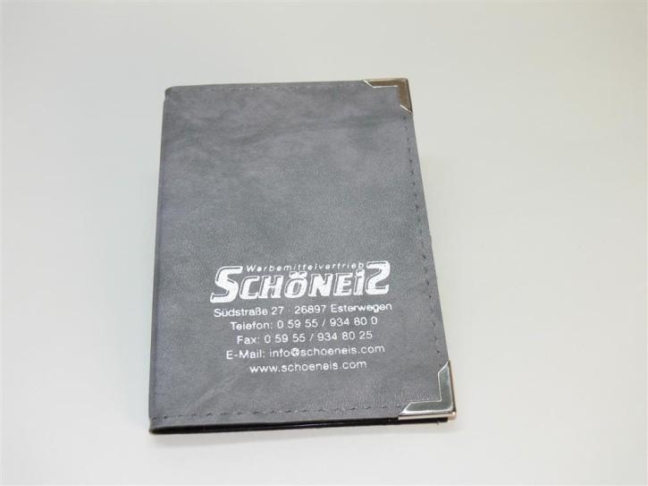 Fahrzeugscheintasche grau/silber