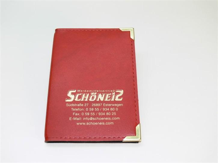 Fahrzeugscheintasche rot/gold