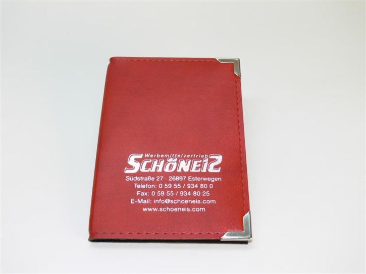 Fahrzeugscheintasche rot/silber