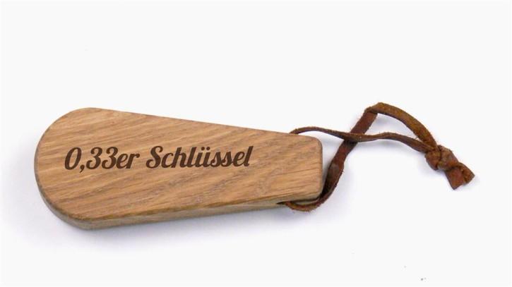 Flaschenöffner Eichenholz mit Lederband