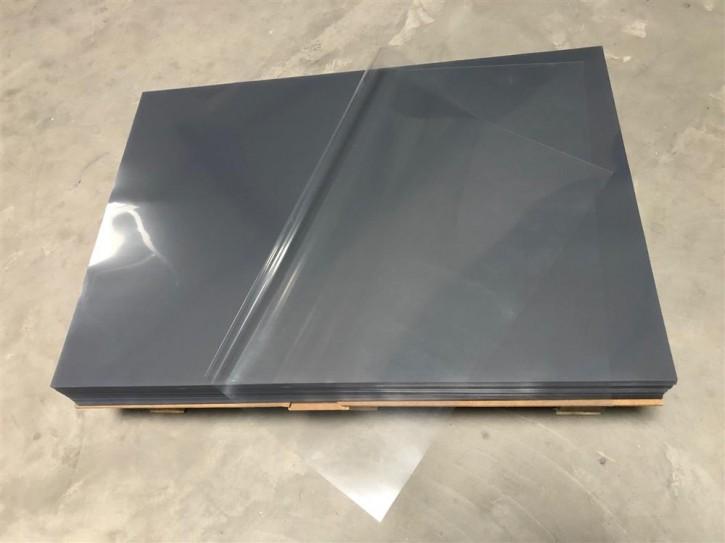 Hart PVC-Folien transparent, Bogen 70 x 100cm