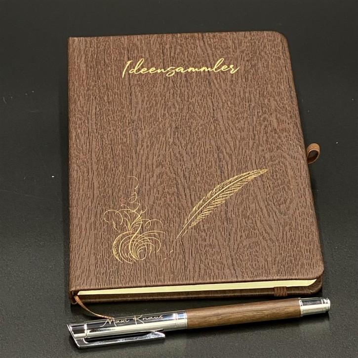 Ideensammler mit Kugelschreiber