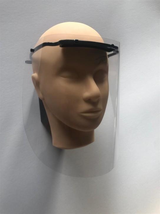 Starterkit Gesicht-Schutzschild 2 Bügel, 4 Folien Standard, 2 Folien Chrystal, 1 Folie Sunlight
